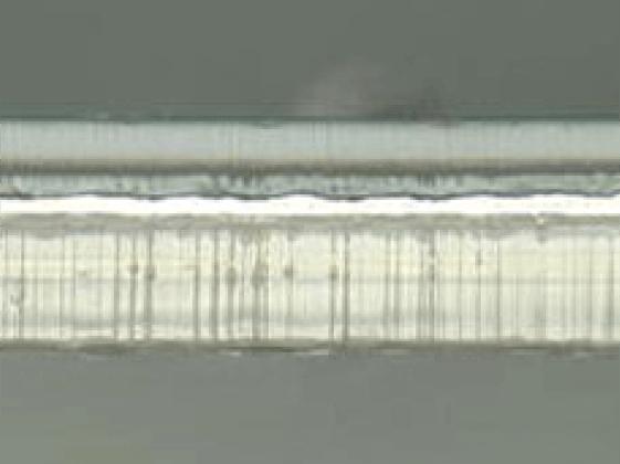 ラミネートフィルムの断面拡大写真
